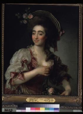 Portrait of the opera singer Anna Davia Bernucci