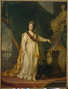 Catherine II as Legislator in the Temple of the Goddess of Justice