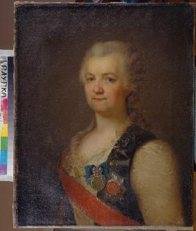 Portrait of the Princess Yekaterina R. Vorontsova-Dashkova (1744-1810), the first  President of the