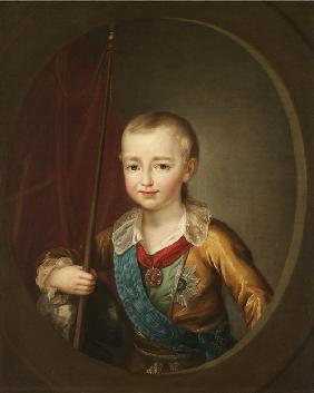 Portrait of Grand Duke Alexander Pavlovich (Alexander I) as Child