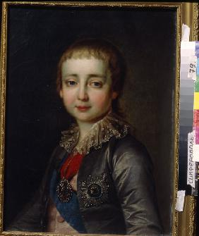 Portrait of Emperor Alexander I (1777-1825) as Child