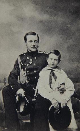 Portrait of Grand Duke Constantin Nikolaevich of Russia (1827-1892) with son Nicholas Constantinovic