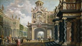 Great Gardenpalace (figures possibly by Anthonie Palamedes)