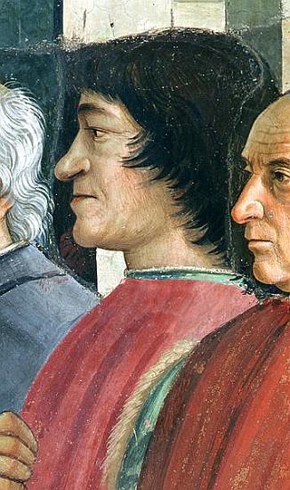 Titolo dell'immagine : Domenico (Domenico Bigordi) Ghirlandaio - Lorenzo Medici,Detail - lorenzo_medicidetail_of_st_fra