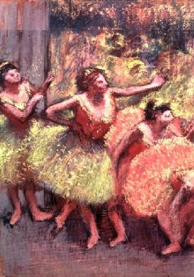 Dancers in Lemon and Pink