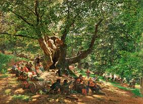 Robin Hood And His Merry Men In Sherwood Forest