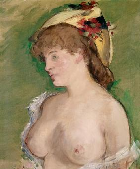 Manet / Blonde with bare breasts / 1878