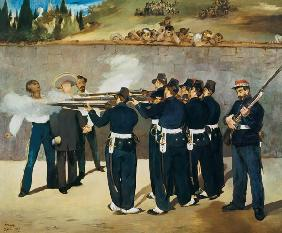 The shooting emperor Maximilian of Mexico