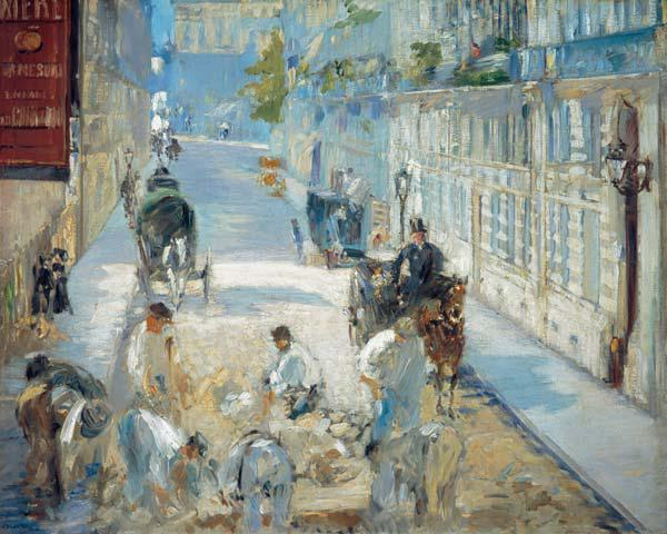 The Rue Mosnier with road workers