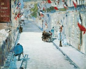Rue Mosnier with Flags