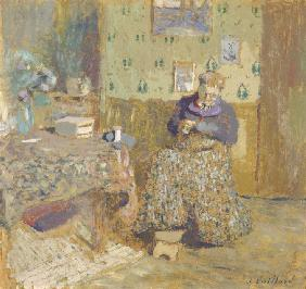 Madame Vuillard Sewing
