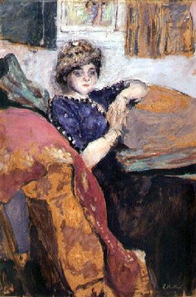 Mlle. Nathanson in the Artist''s Studio, c.1912 (oil on board)
