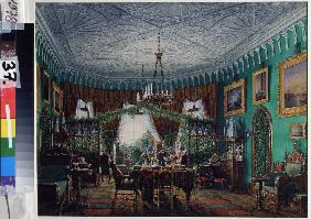 The Drawing Room of Empress Alexandra in the Cottage Palace in Peterhof