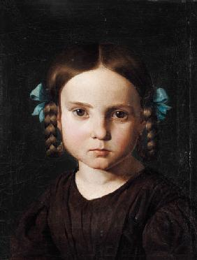 Portrait of Karoline of Steinle as a child.
