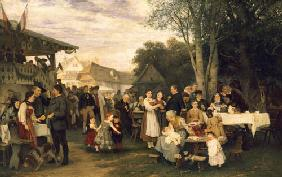 Rural feast in Swabia