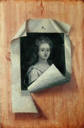 Trompe l'Oeil Portrait of a Lady