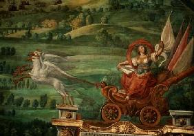 Chariot drawn by griffins, detail from the 'Galleria delle Carte Geografiche'