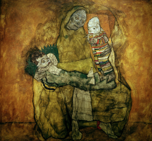 Mother and two children egon schiele for Egon schiele tutte le opere