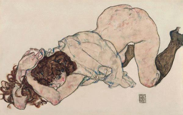 Kneeling Girl, Resting on Both Elbows 1917