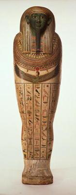 The sarcophagus of Psamtik I (664-610 BC) Late Period (painted wood) (for details see 95060-64)