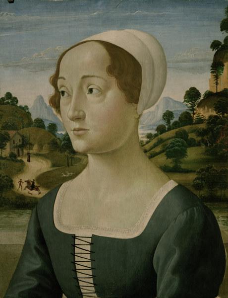 Titolo dell'immagine :  (alias Domenico Tommaso Bigordi) Ghirlandaio Domenico - D.Ghirlandaio (?), Portrait young woman