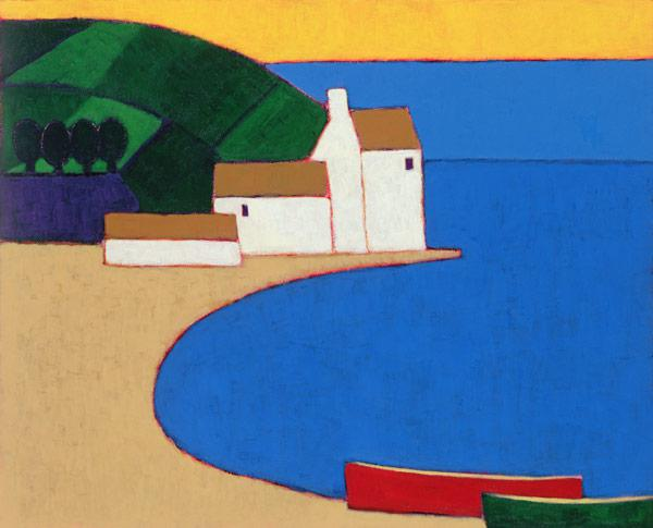 Bay in Southern Brittany, 2004 (acrylic on paper)