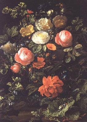 Still Life with Roses, Insects and Snails