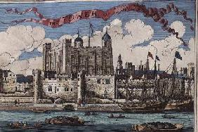 Tower of London Seen from the River Thames, from 'A Book of the Prospects of the Remarkable Places i