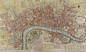 A New and Exact Plan of the Cities of London and Westminster and the Borough of Southwark, 1725 (col