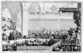 The General Assembly of the Kirk of Scotland, 1787 (engraving) (b&w photo)