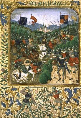 Battle of Agincourt, October 25th 1415 (w/c on paper)