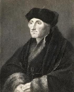 Desiderius Erasmus (1469-1536) from 'Gallery of Portraits', published in 1833 (engraving)