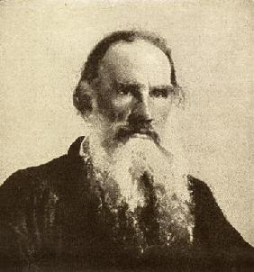 Lev Tolstoy (1828-1910) (b/w photo)