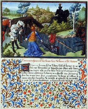 Ms. 2597 Hope Takes Heart out of the River of Tears, facsimile edition of 'Livre du Coeur d'Amours E