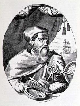 Portrait of Amerigo Vespucci (1454-1512) from 'The Narrative and Critical History of America', edite