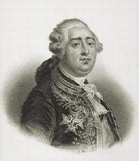 Portrait of Louis XVI (1754-93) King of France (engraving)