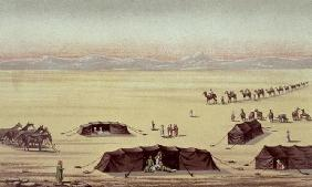 The Desert Camp of Sir Richard Burton (1821-90) (pastel on paper)