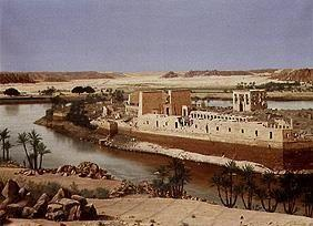 The island of Philae in the Nil (Nubien/Egypt)