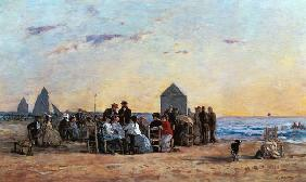 Beach Scene at Trouville - Sunset