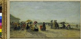 Beach scene in Trouville