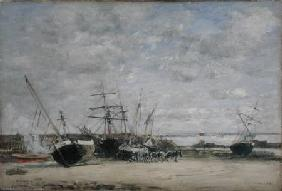 Vessels and Horses on the Shoreline
