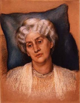 Study for 'The Hour Glass': portrait of Mrs. William Morris. c.1904-05 (pastel on paper) (study of 2