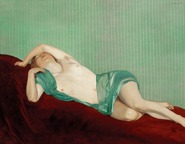 F.Vallotton / Reclining Nude.../ 1914 - Felix Vallotton riproduzione  stampata o copia dipinta a mano e ad olio su tela
