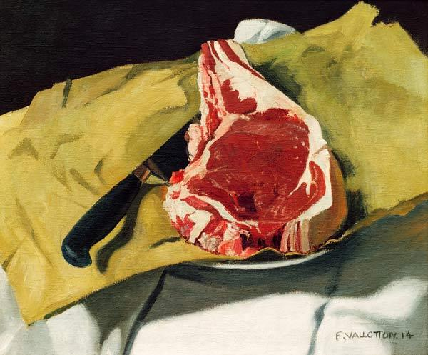 Vallotton / Still life: Entrecote / 1914