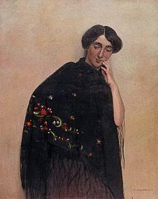 Woman with a Spanish scarf