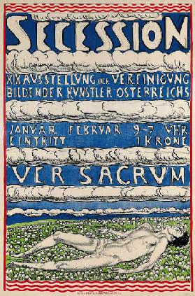 Poster for the 19th exhibition of the Secession
