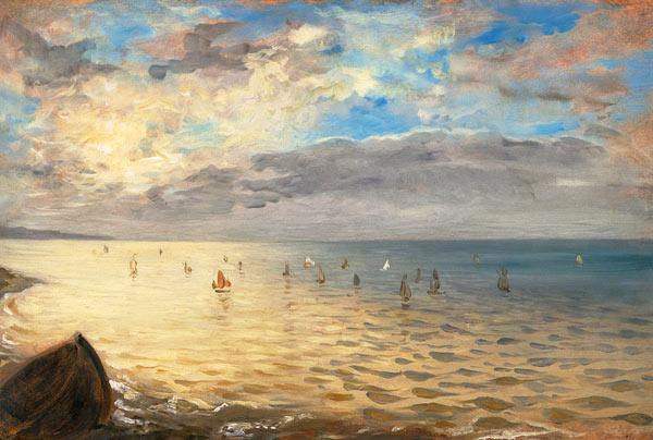 Risultati immagini per tramonto sul mare dipinto 1800
