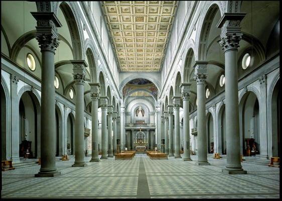 Filippo brunelleschi riproduzioni e dipinti di copia di for Interior iglesia san lorenzo brunelleschi