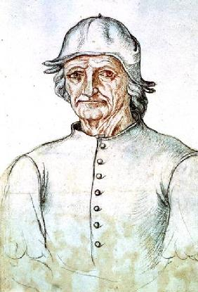 Ms 266 fol.275 Portrait of Hieronymus Bosch (145-1516) from the 'Receuil d'Arras'