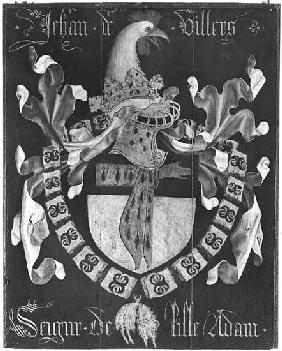 Coat of Arms of Jehan de Villers (d.1439), Seigneur of Lille Adam, 3rd Chapter of the Order of the G